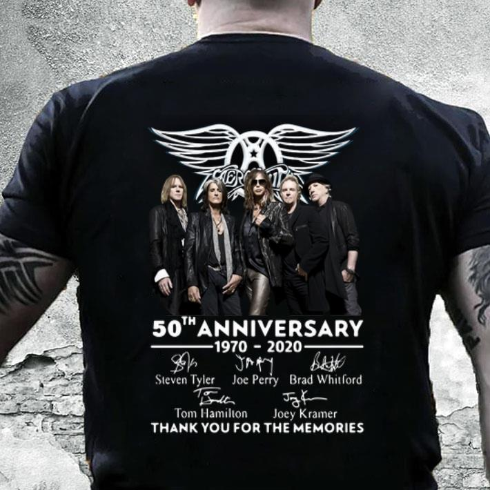 Aerosmith 50th anniversary 1970-2020 thank you for the memories shirt