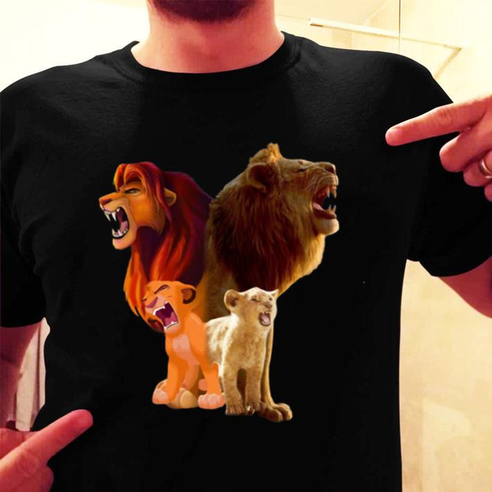 Baby Simba and adult Simba The Lion King 2019 shirt