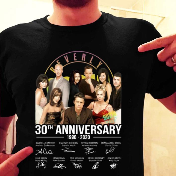 Beverly Hills 90210 30th anniversary 1990-2020 signatures shirt