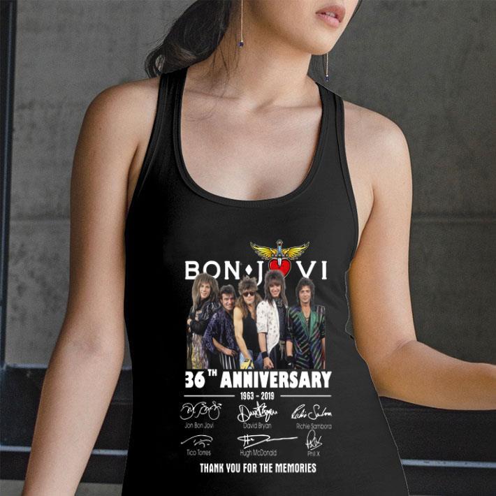 Bon Jovi 36th anniversary 1963-2019 thank you for the memories shirt