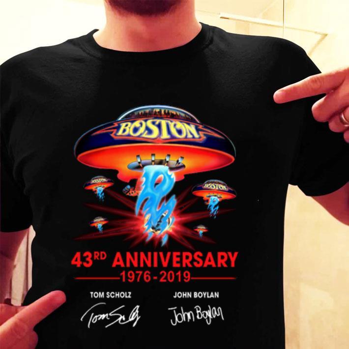 Boston 43rd anniversary 1976-2019 Tom Scholz John Boylan shirt