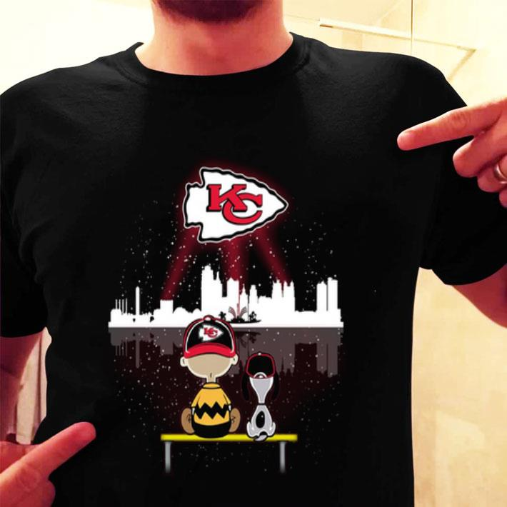 Charlie Brown and Snoopy Watching Kansas City Chiefs shirt