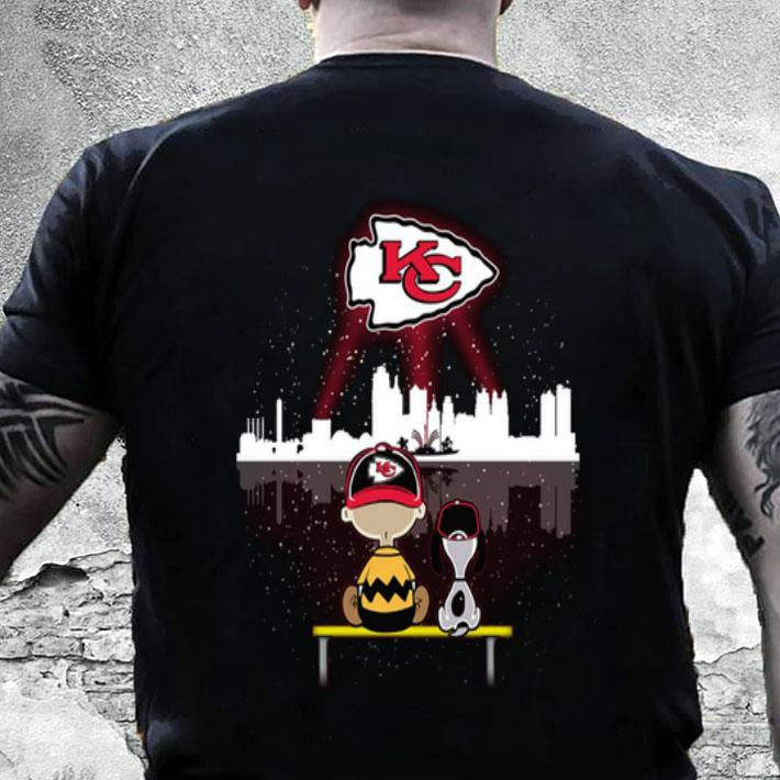 on sale ab048 9831d Charlie Brown and Snoopy Watching Kansas City Chiefs shirt, hoodie,  sweater, longsleeve t-shirt