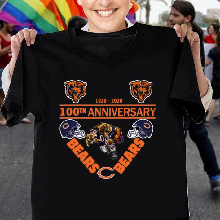 Chicago Bears 1920-2020 100th anniversary shirt