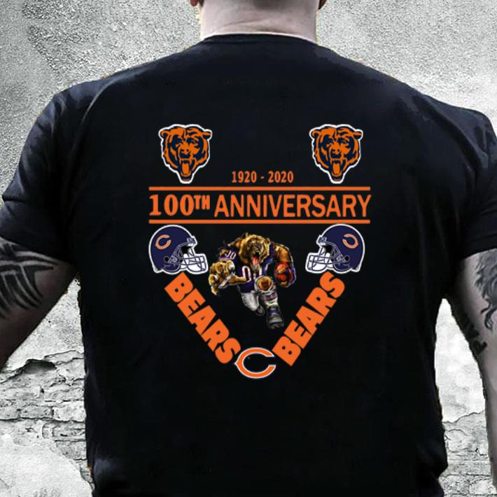 new styles f20bf 22d25 Chicago Bears 1920-2020 100th anniversary shirt, hoodie, sweater,  longsleeve t-shirt