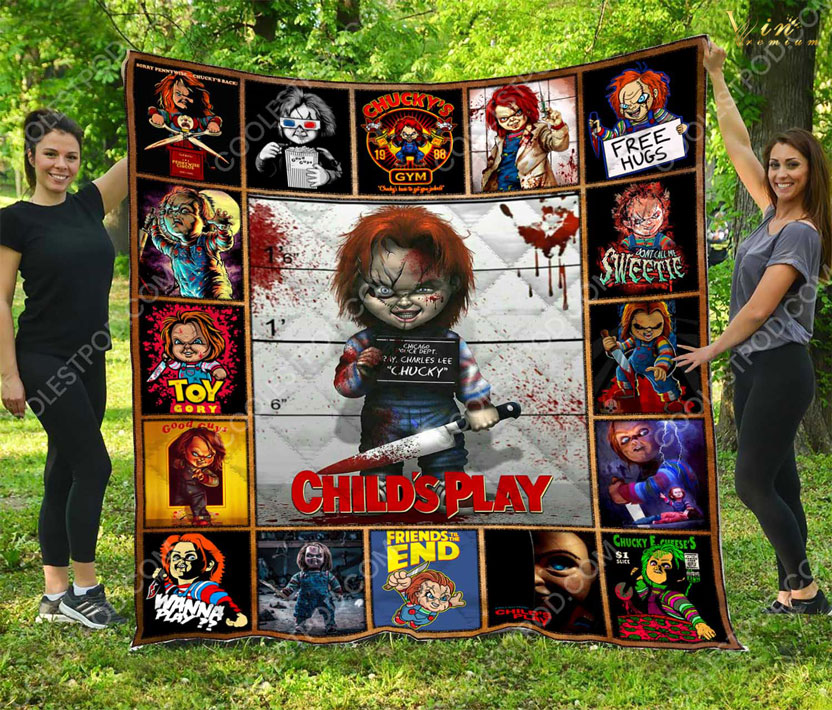 Child's Play Chucky free hugs Toy Gory quilt blanket