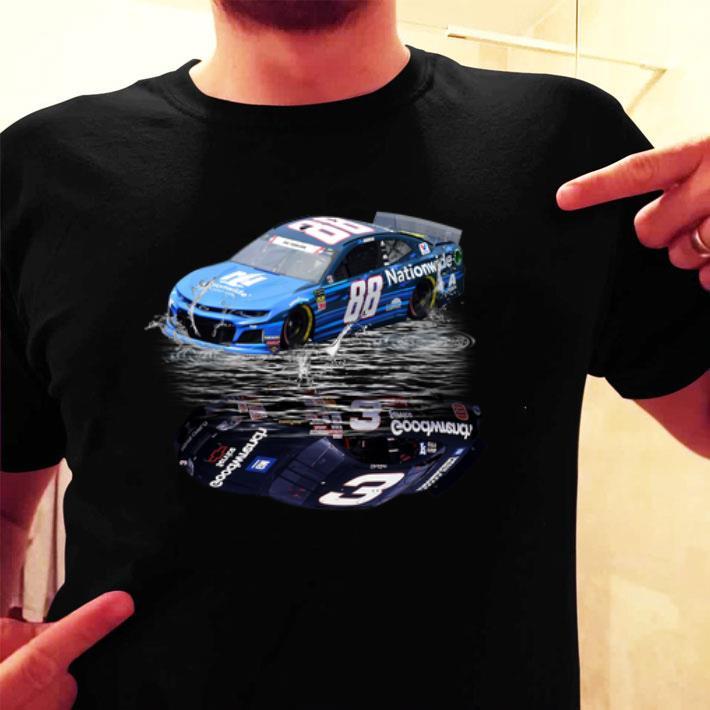 Dale Earnhardt Jr. car water mirror reflection shadow shirt