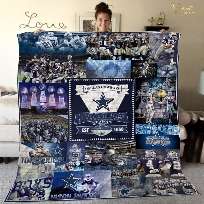 Dallas Cowboys 1960 anniversary quilt blanket