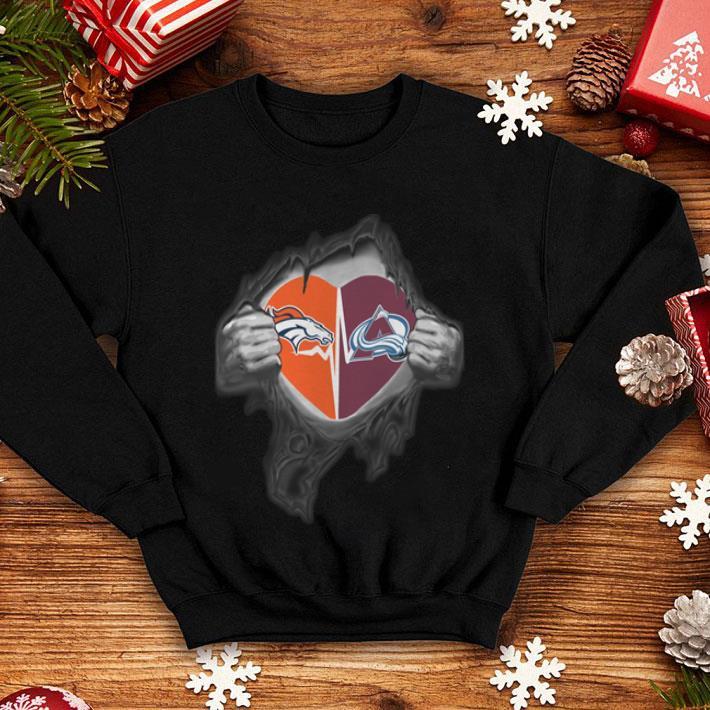 Denver Broncos Colorado Avalanche inside my heart shirt