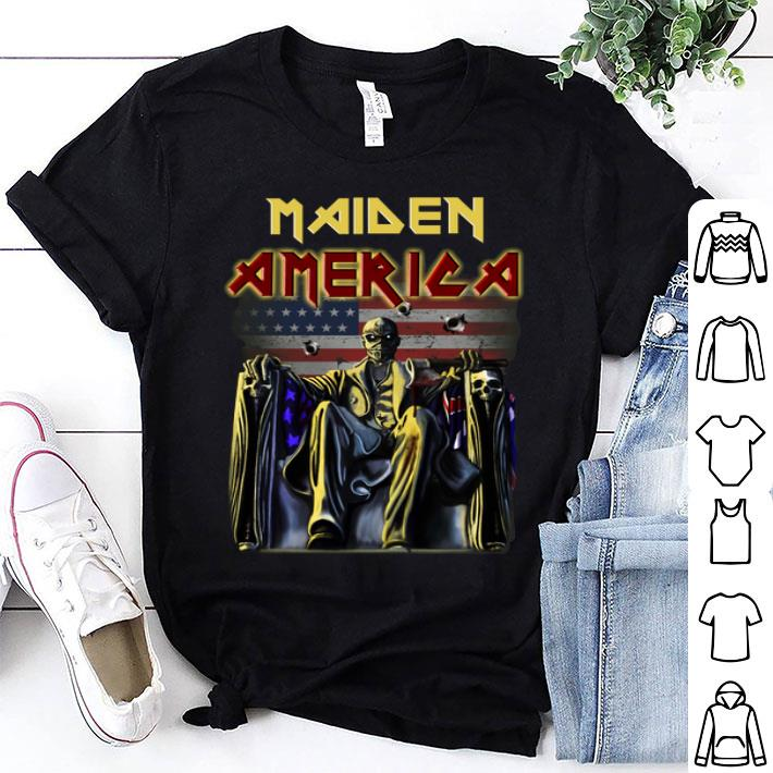 Iron Maiden American flag shirt