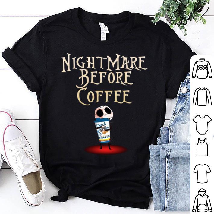 Jack Skellington hug Dutch Bros Nightmare before coffee shirt