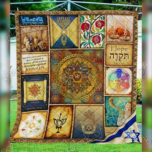 Jewish Quilt PN116 blanket 2