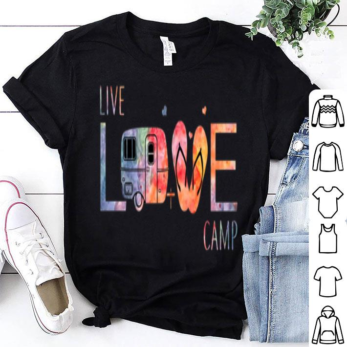 Live love camp flip flop shirt