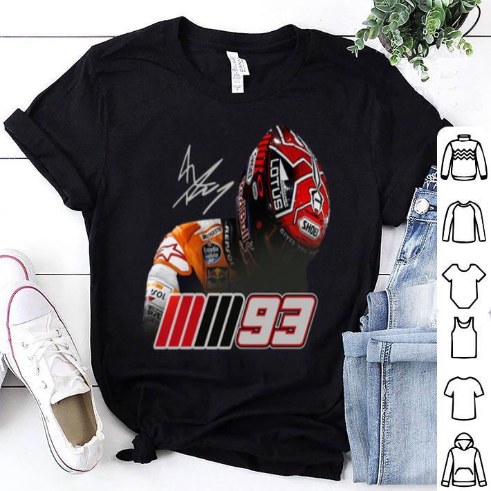 Logo of Marc Marquez MM93 signature shirt