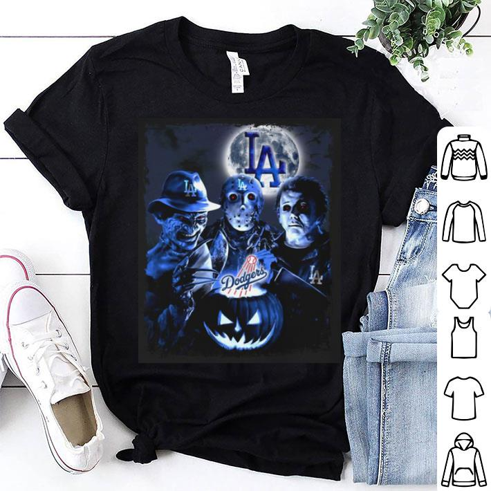 Los Angeles Dodgers Horror film characters shirt