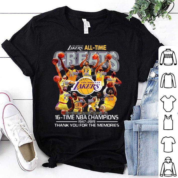Los Angeles Lakers all time 16 time NBA champions 1947-2019 shirt