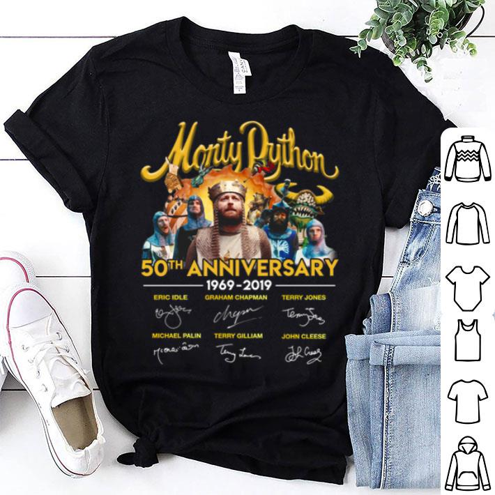 Monty Python 50th anniversary 1969-2019 signatures shirt