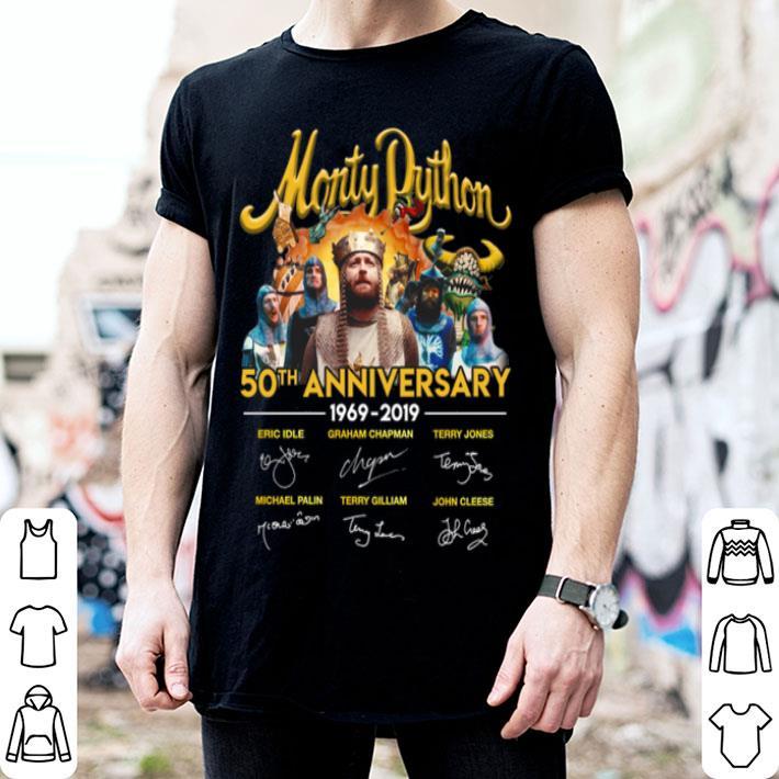 Monty Python 50th anniversary 1969-2019 signatures shirt