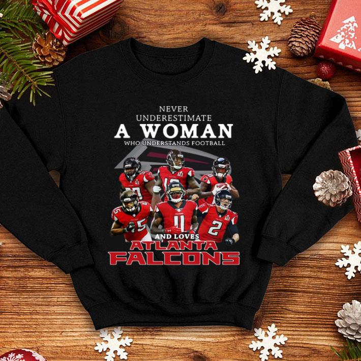 da039a6f Never underestimate a woman and loves Atlanta Falcons shirt, hoodie,  sweater, longsleeve t-shirt