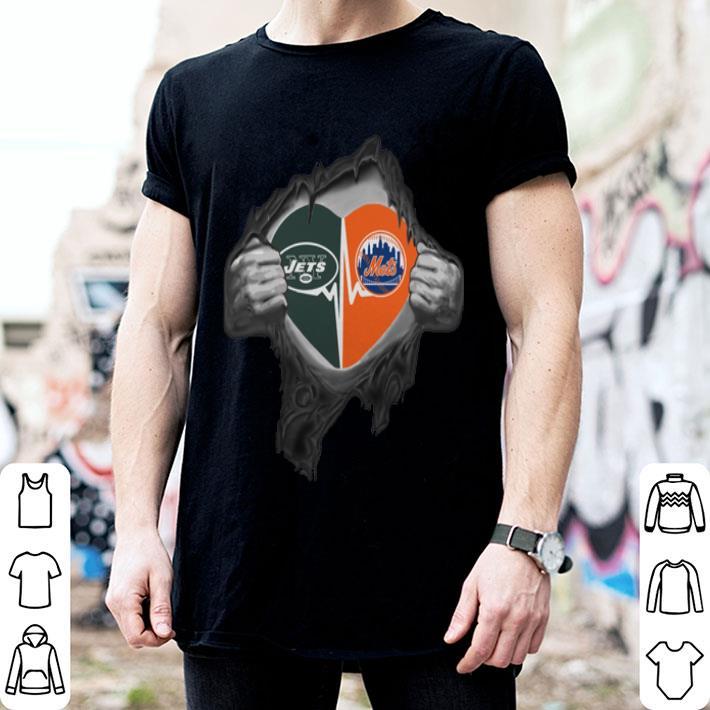 8f3dda9f New York Jets New York Mets inside my heart shirt, hoodie, sweater,  longsleeve t-shirt