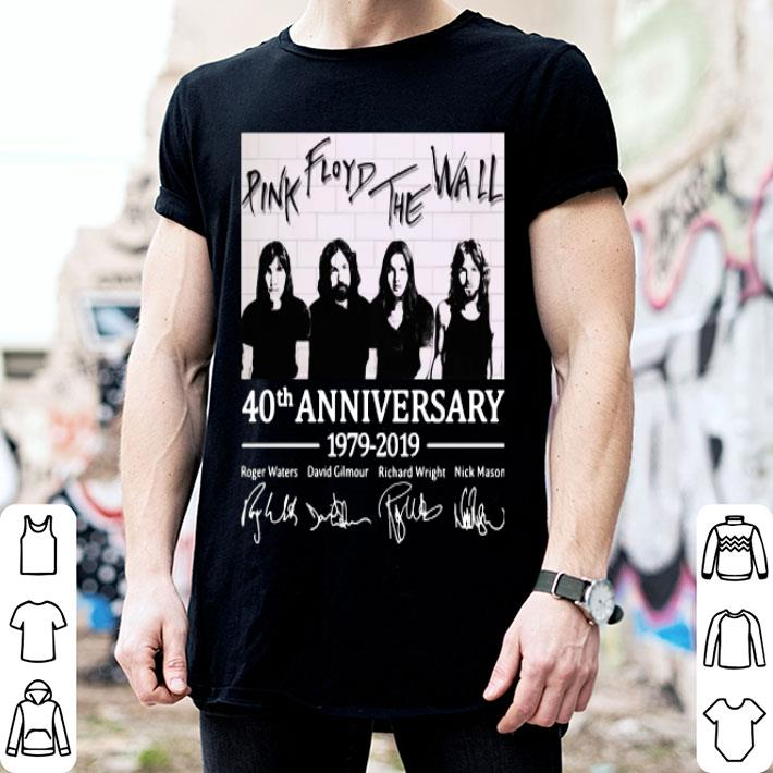 Pink Floyd The Wall 40th anniversary 1979-2019 signatures shirt