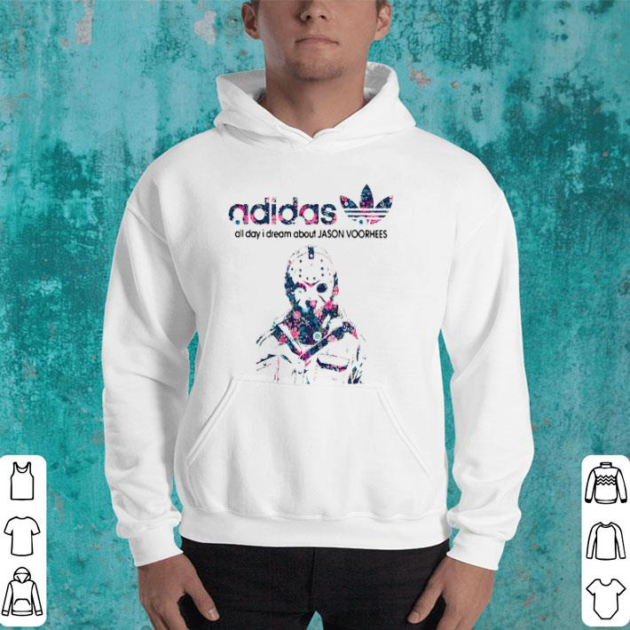 adidas all day I dream about Jason Voorhees shirt