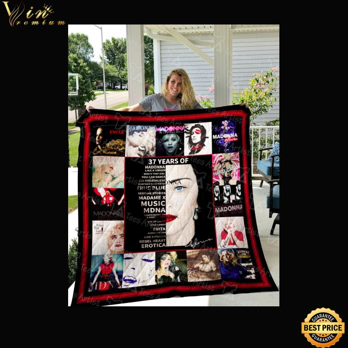 37 years of Madonna like a virgin who's that girl you quilt blanket 1