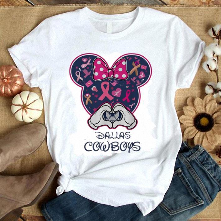 Breast Cancer Mickey Love Dallas Cowboys shirt