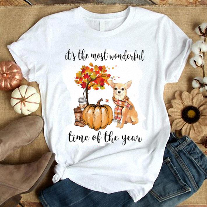 Chihuahua it's the most wonderful time of the year Autumn shirt