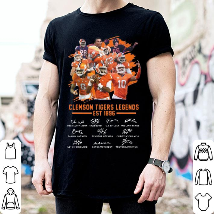 Clemson Tigers Legends Est 1896 signatures shirt