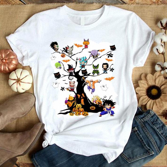 Dragon Ball pumpkin ghost boo on the tree Halloween shirt