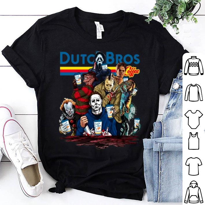 Dutch Bros Coffee Horror movie characters shirt