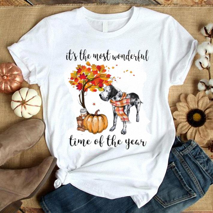 Great Dane it's the most wonderful time of the year Autumn shirt