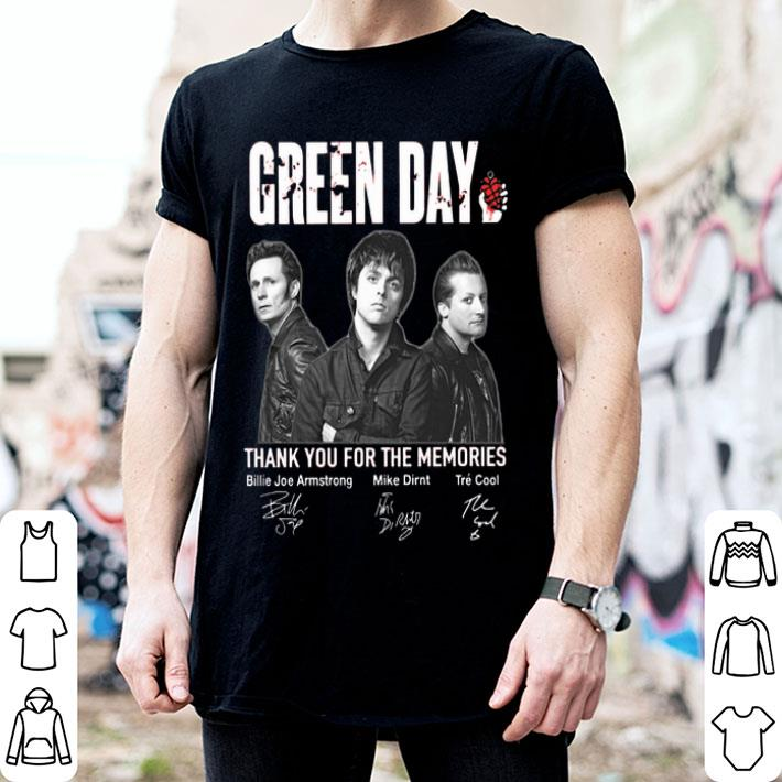 Green Day thank you for the memories signatures shirt