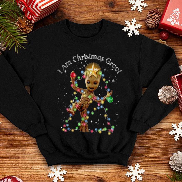 I Am Christmas Groot Christmas Lights shirt