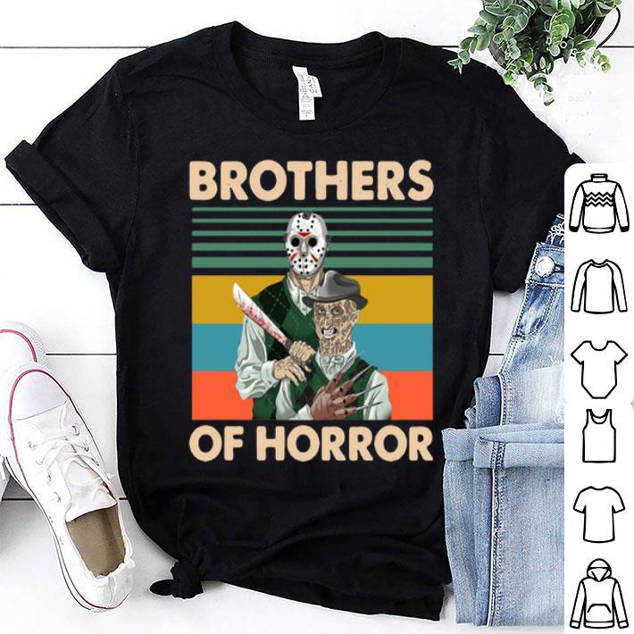 Jason Voorhees Brothers Of Horror Freddy Krueger Vintage shirt
