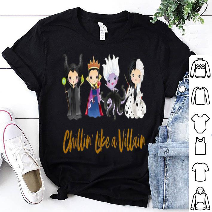 Maleficent Chillin' Like A Villain Disney Halloween shirt