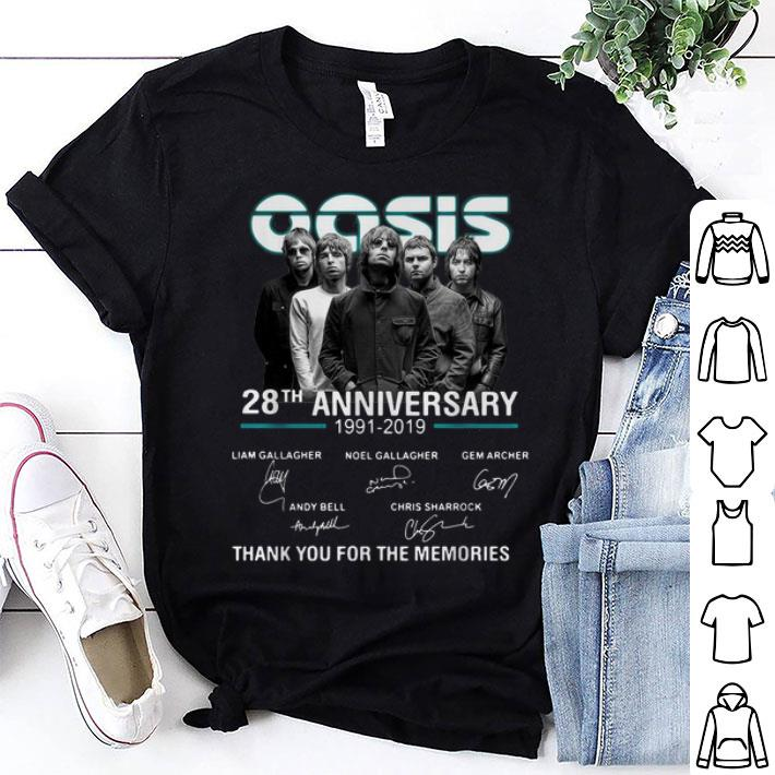 Oasis 28th anniversary 1991-2019 thank you for the memories shirt