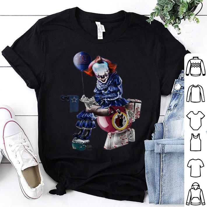 quite nice 59448 47717 Pennywise New York Giants Dallas Cowboys Redskins Toilet shirt
