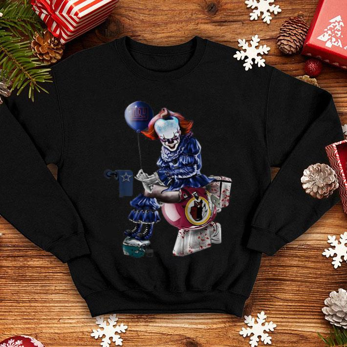 newest collection d596a e8ec0 Pennywise New York Giants Dallas Cowboys Redskins Toilet shirt, hoodie,  sweater, longsleeve t-shirt