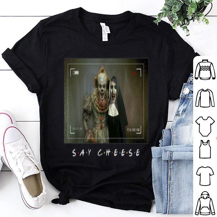Pennywise and Valak say cheese shirt