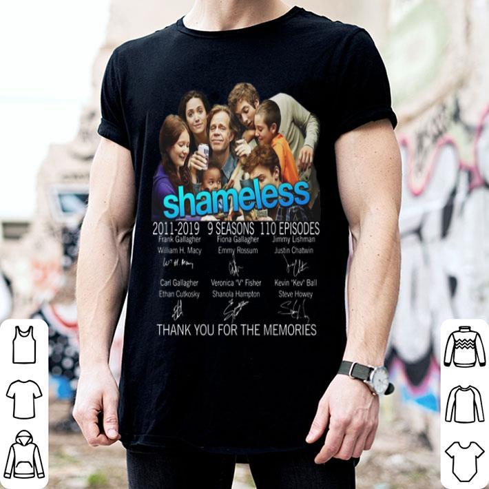 Shameless 2011-2019 signatures thank you for the memories shirt