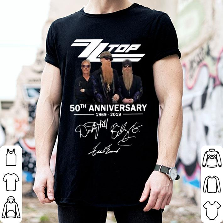 ZZ Top 50th anniversary 1969-2019 signatures shirt