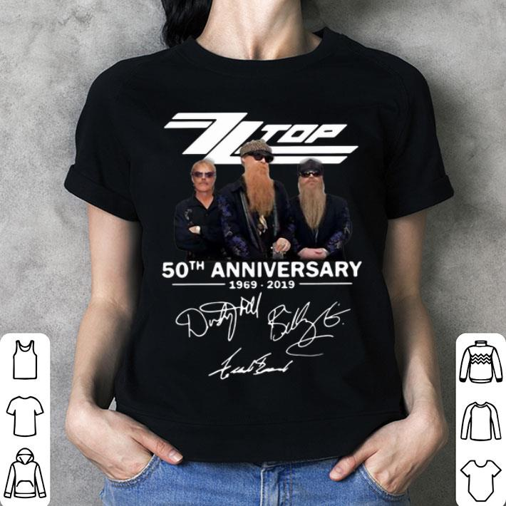 ZZ Top 50th anniversary 1969-2019 signatures shirt