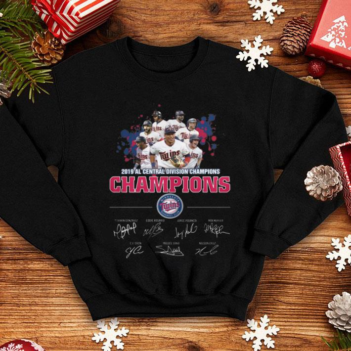 2019 Al Central Division Champions Minnesota Twins Signatures shirt