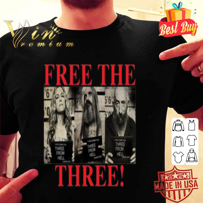 3 From Hell Free the Three Rob Zombies shirt
