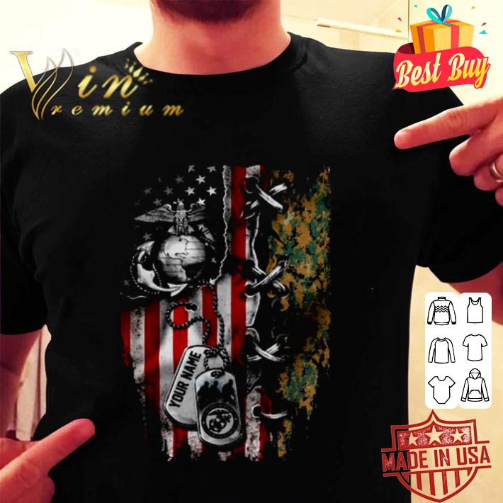 4th Of July Independence Day your name US Marine Corps shirt