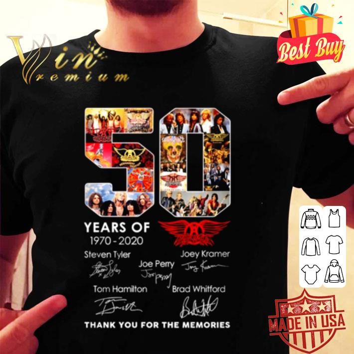 50 Years Of Queen 1970-2020 Signature Thank You For The Memories shirt