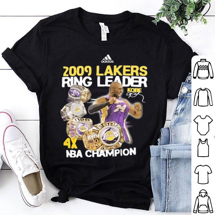Adidas 2009 Lakers Ring Leader Kobe Bryant NBA Champion shirt