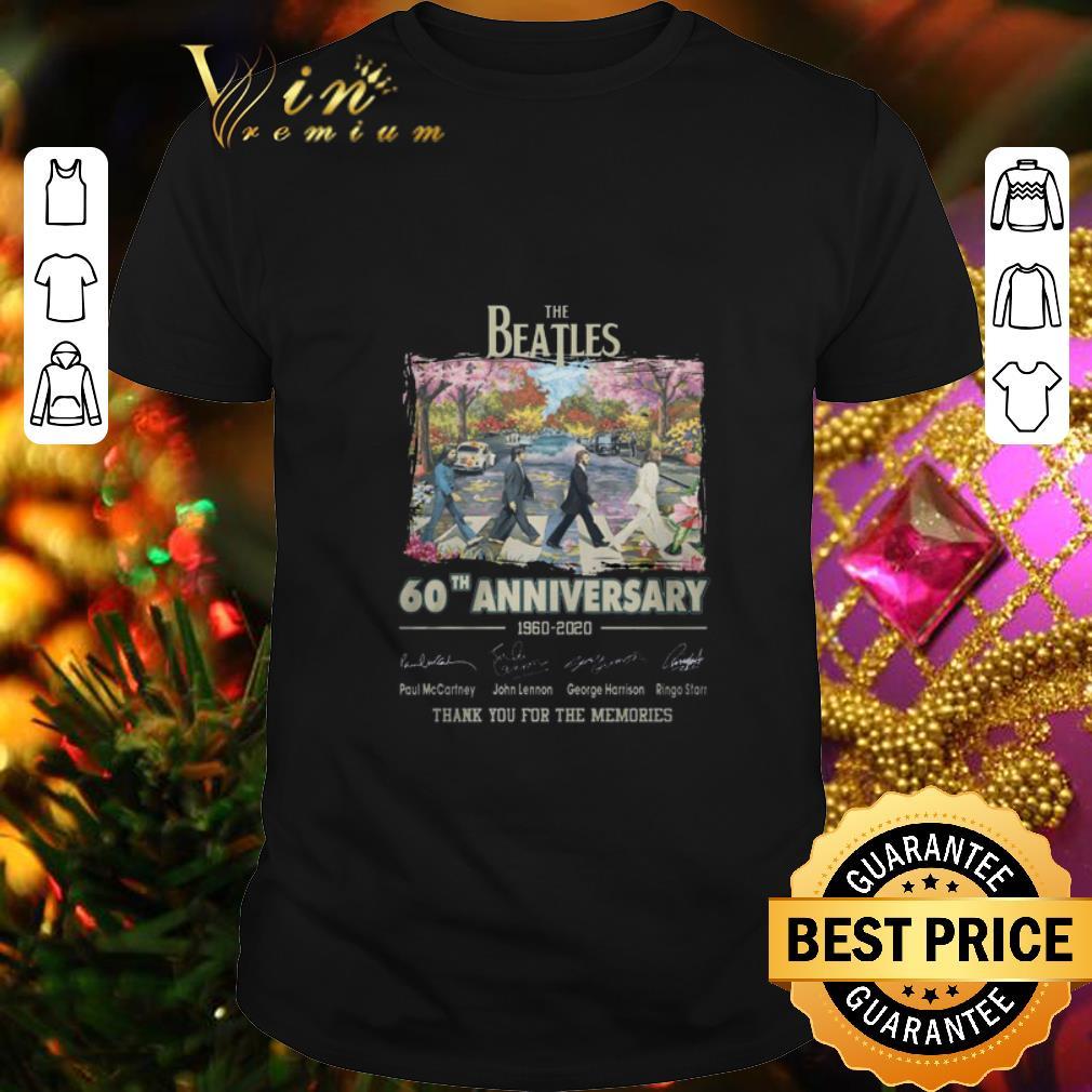 Best 60th anniversary The Beatles 1960-2020 signature Thanks memories shirt